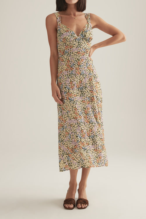 Camelia Dress Confetti Floral
