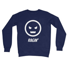 Load image into Gallery viewer, Ragin (White) Unisex Sweatshirt by stray funk design
