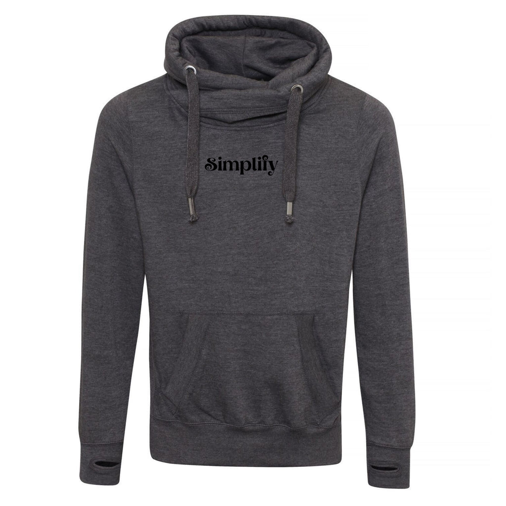Simplify Cross Neck Hoodie by stray funk design