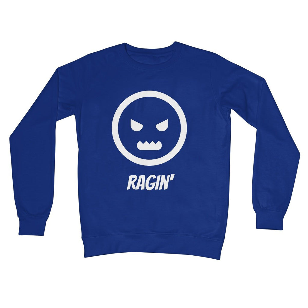 Ragin (White) Kids Sweatshirt by stray funk design