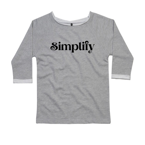 Simplify, Ladies Flash Dance Sweatshirt by stray funk design