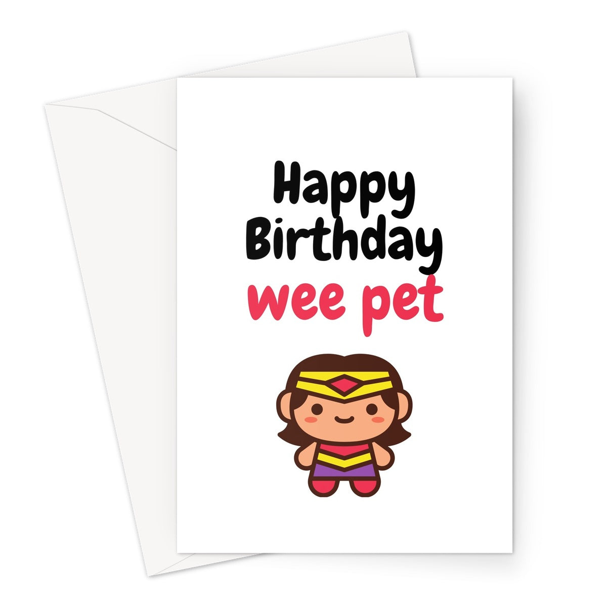 stray funk design happy birthday wee pet greeting card