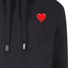 Load image into Gallery viewer, Red Heart Balloon Unisex Cross Neck Hoodie by stray funk design