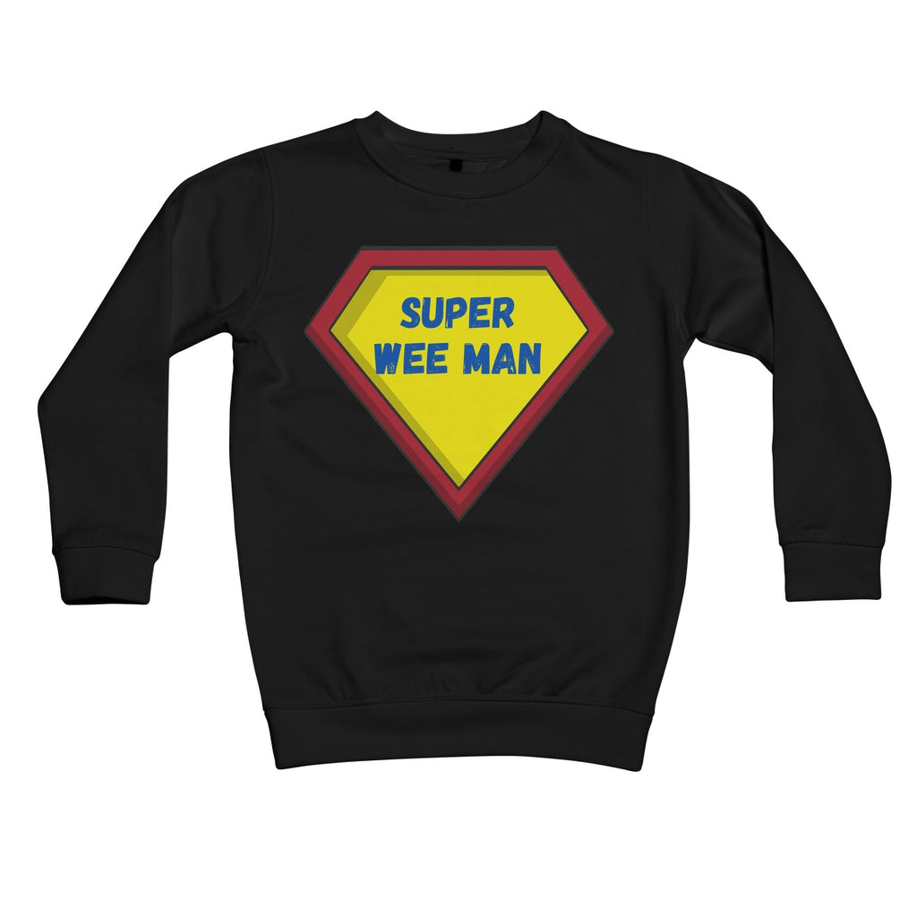 Super Wee Man Kids Sweatshirt by stray funk design