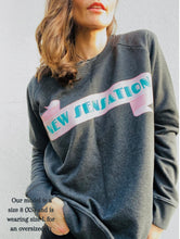 Load image into Gallery viewer, 'New Sensation' Organic Sweatshirt by stray funk design