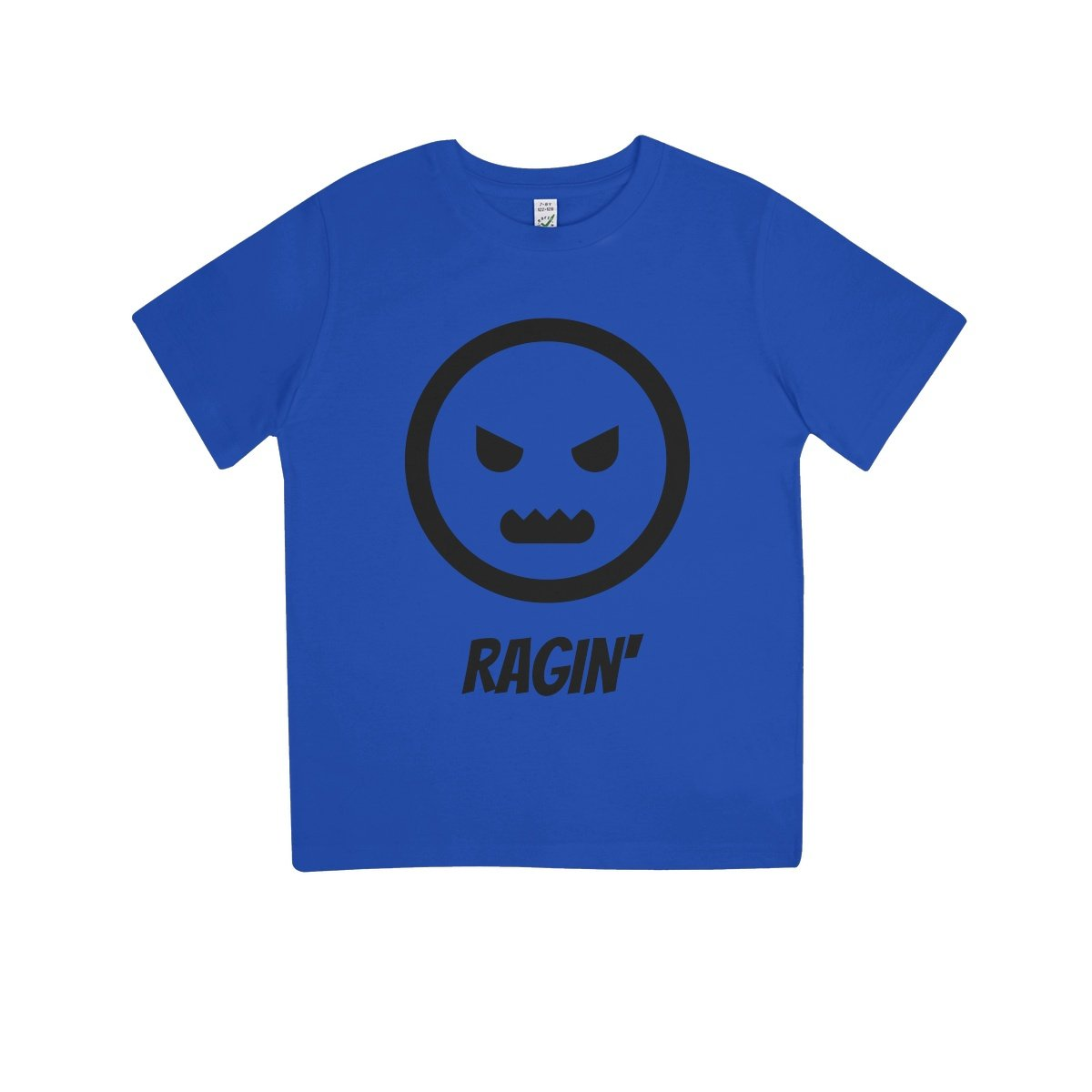 Ragin (Black) Kids 100% Organic T-Shirt by stray funk design