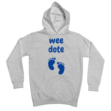 Load image into Gallery viewer, Wee Dote (Blue) Kids Hoodie by stray funk design