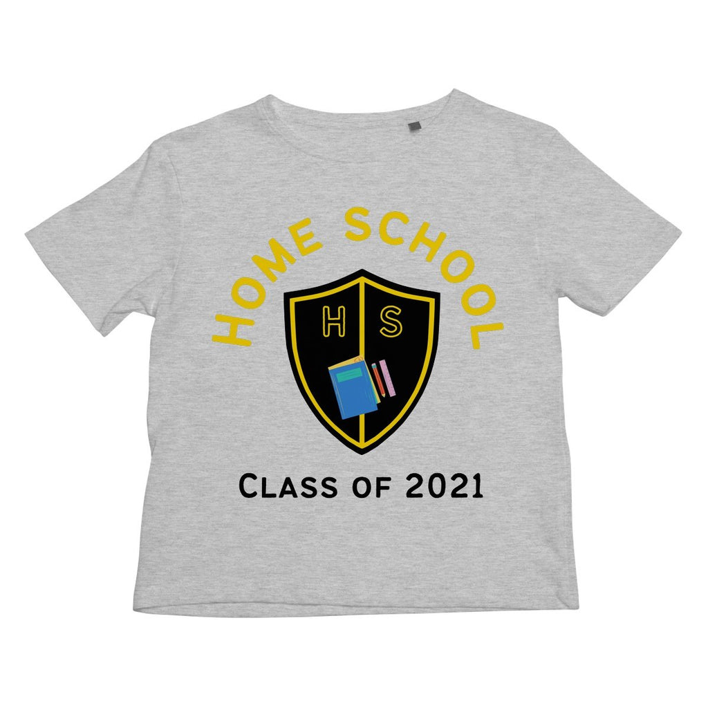 Home School (Black Text) Kids T-Shirt by stray funk design