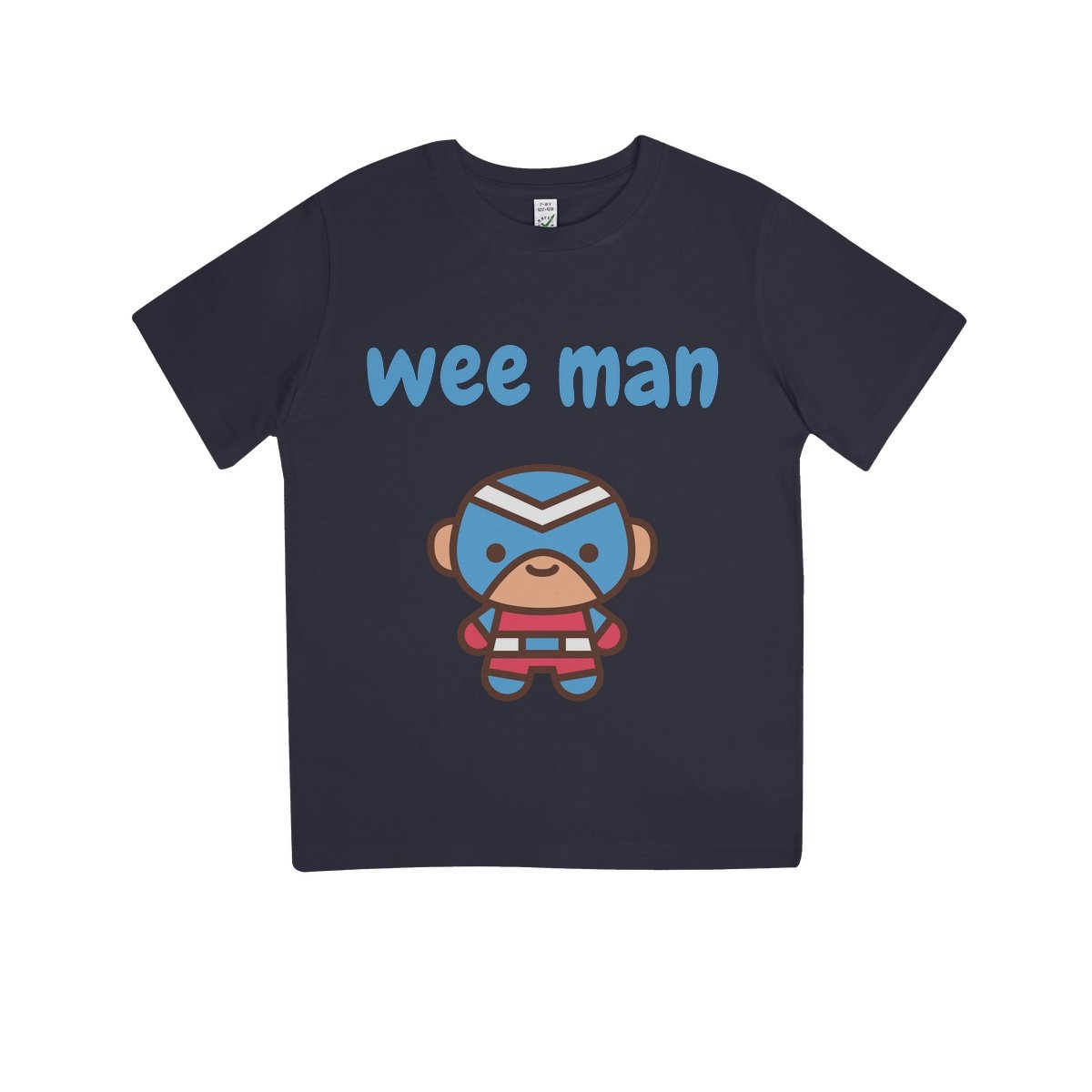 Wee Man Kids 100% Organic T-Shirt by stray funk design