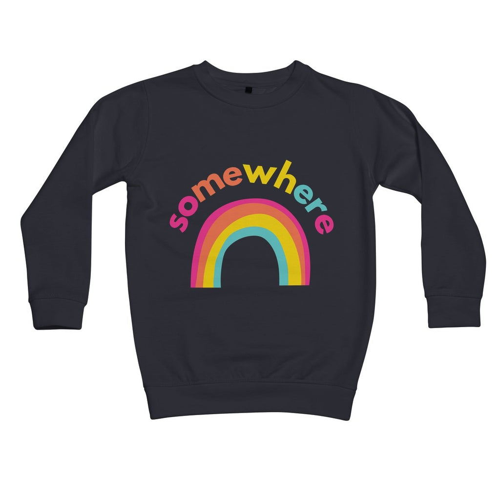 Somewhere Over The Rainbow Kids Sweatshirt by stray funk design