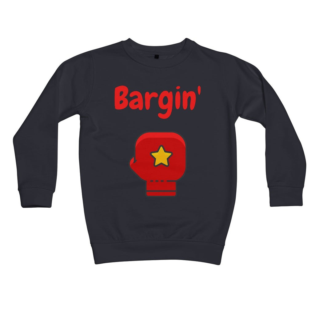 Bargin' Kids Sweatshirt by stray funk design