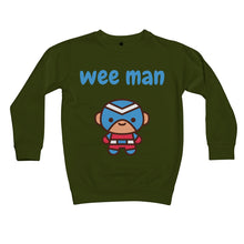 Load image into Gallery viewer, Wee Man Kids Sweatshirt by stray funk design
