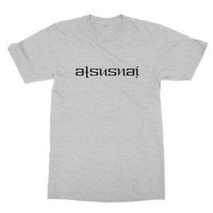 Ats Us Nai (Black) Ambigram Softstyle T-Shirt by stray funk design