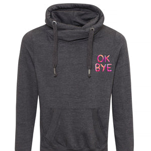 OK Bye Unisex Cross Neck Hoodie by stray funk design