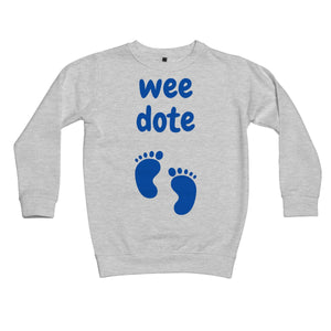 Wee Dote (Blue) Kids Sweatshirt by stray funk design