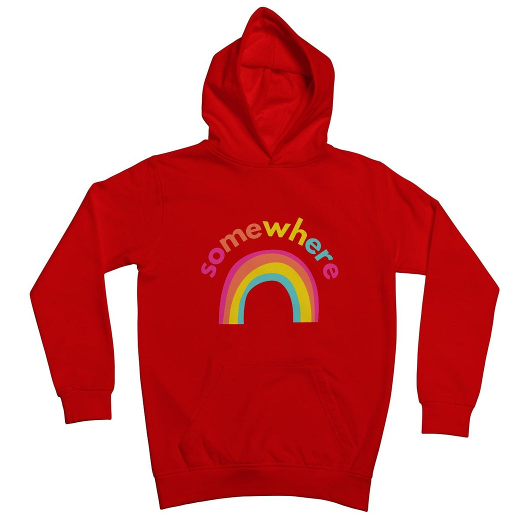 Somewhere Over The Rainbow Kids Hoodie by stray funk design