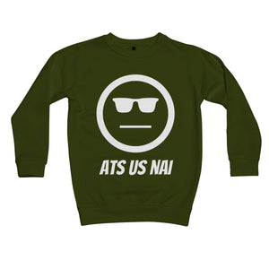 Ats Us Nai (White) Kids Sweatshirt by stray funk design