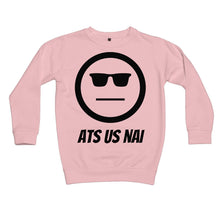 Load image into Gallery viewer, Ats Us Nai (Black) Kids Sweatshirt by stray funk design