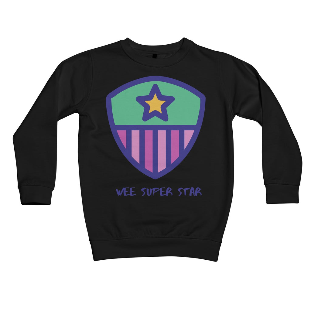 Wee Super Star Kids Sweatshirt by stray funk design