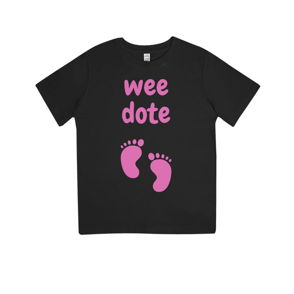 Wee Dote (Pink) Kids 100% Organic T-Shirt by stray funk design