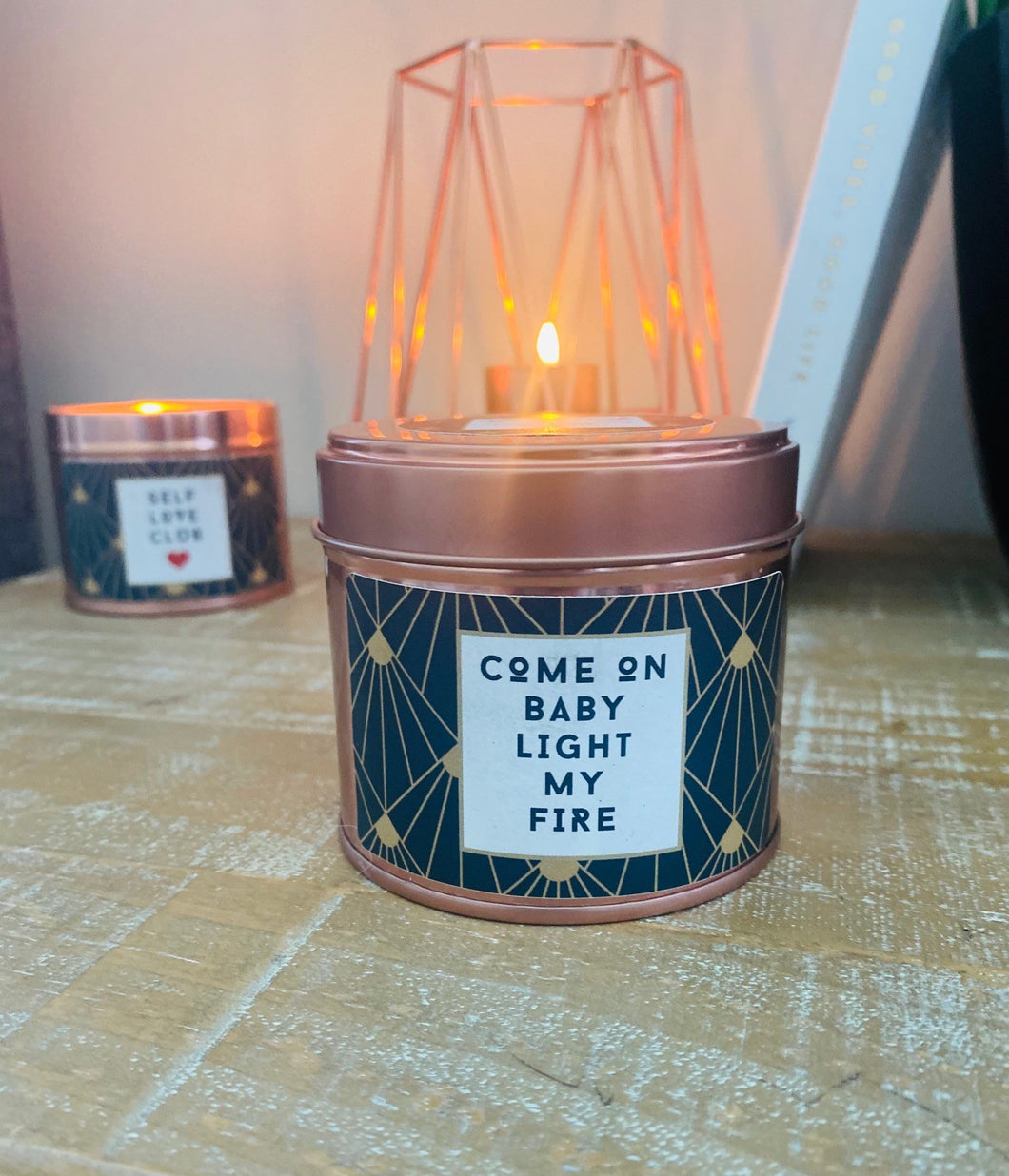 'Come On Baby Light My Fire' Soy Wax Candle (20cl) by stray funk design
