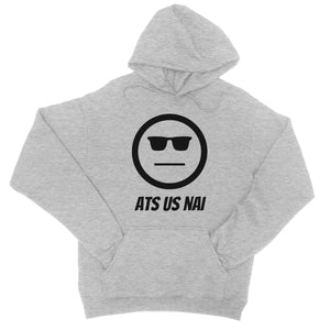 Ats Us Nai (Black) College Hoodie by stray funk design