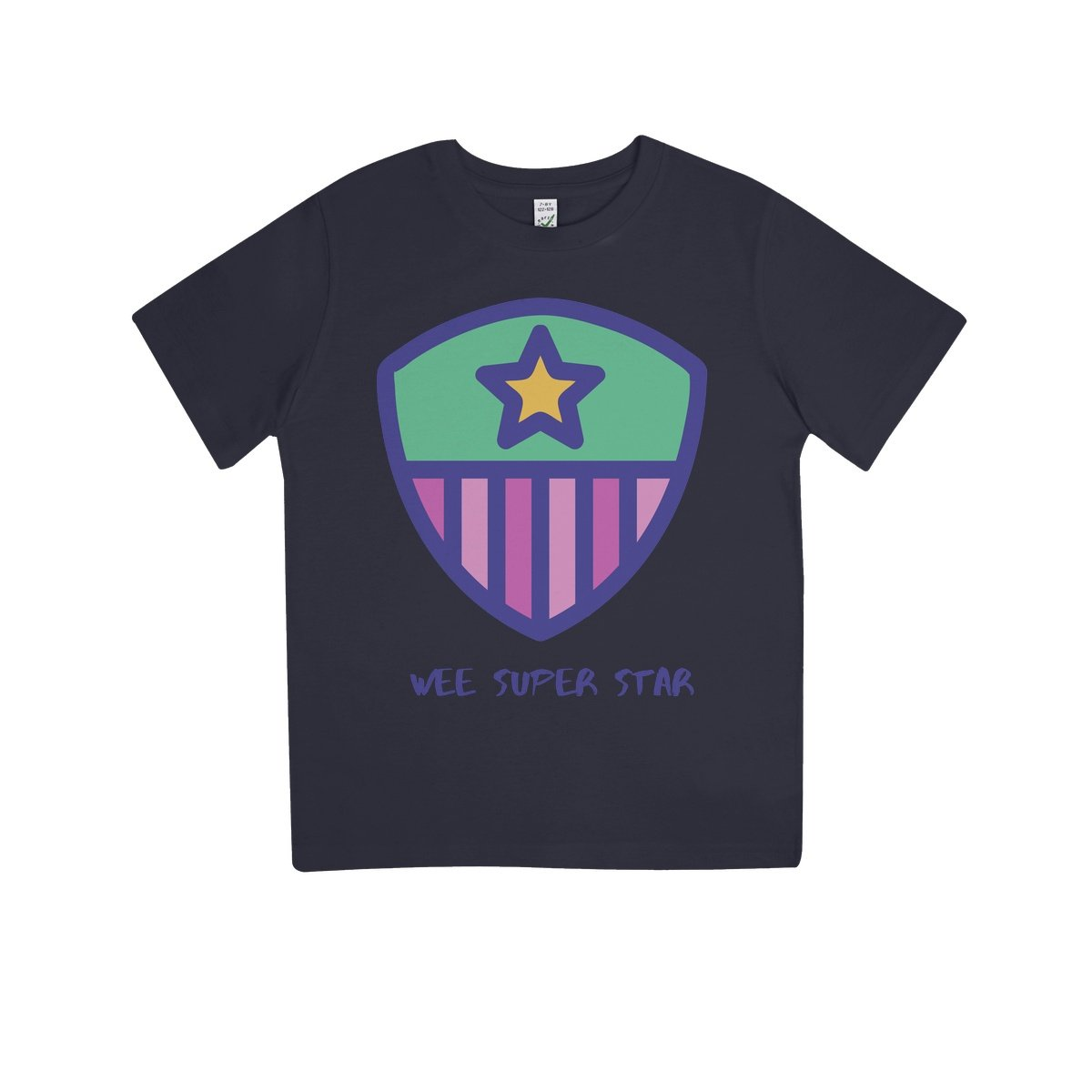 Wee Super Star Kids 100% Organic T-Shirt by stray funk design