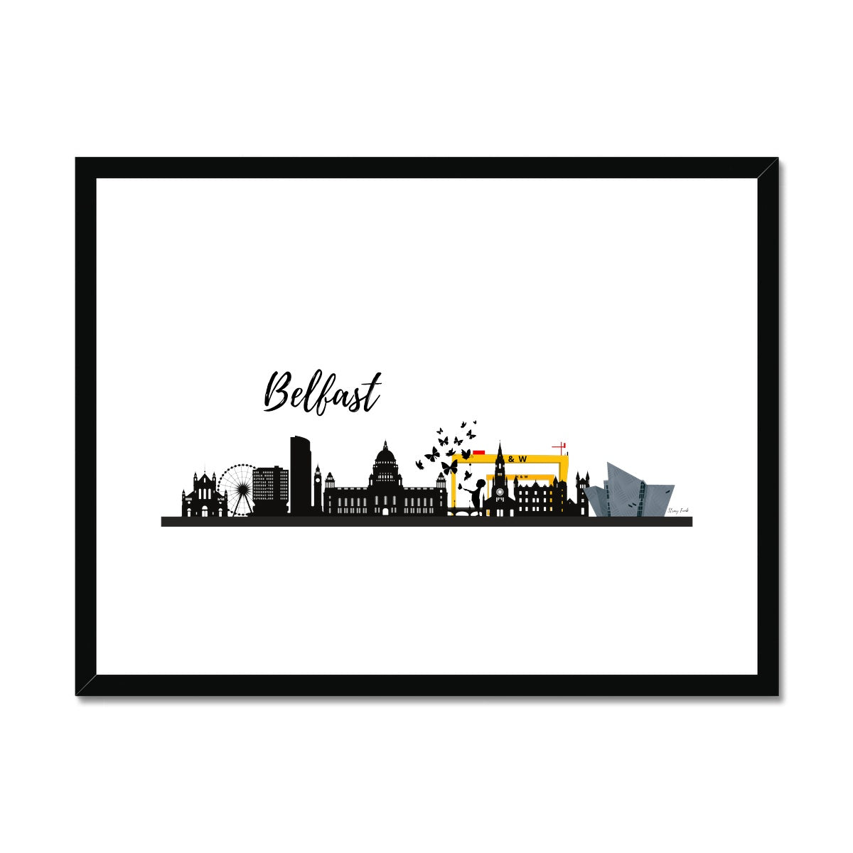 free your stray funk in belfast framed and mounted print