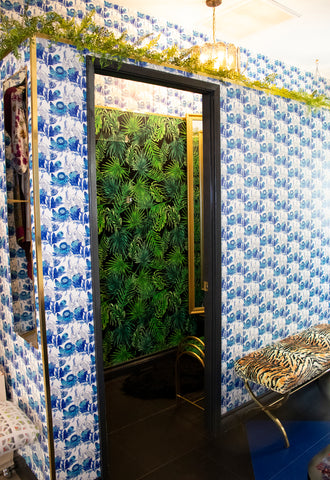 A peek inside the glam fitting room at Candice Held Palm Springs