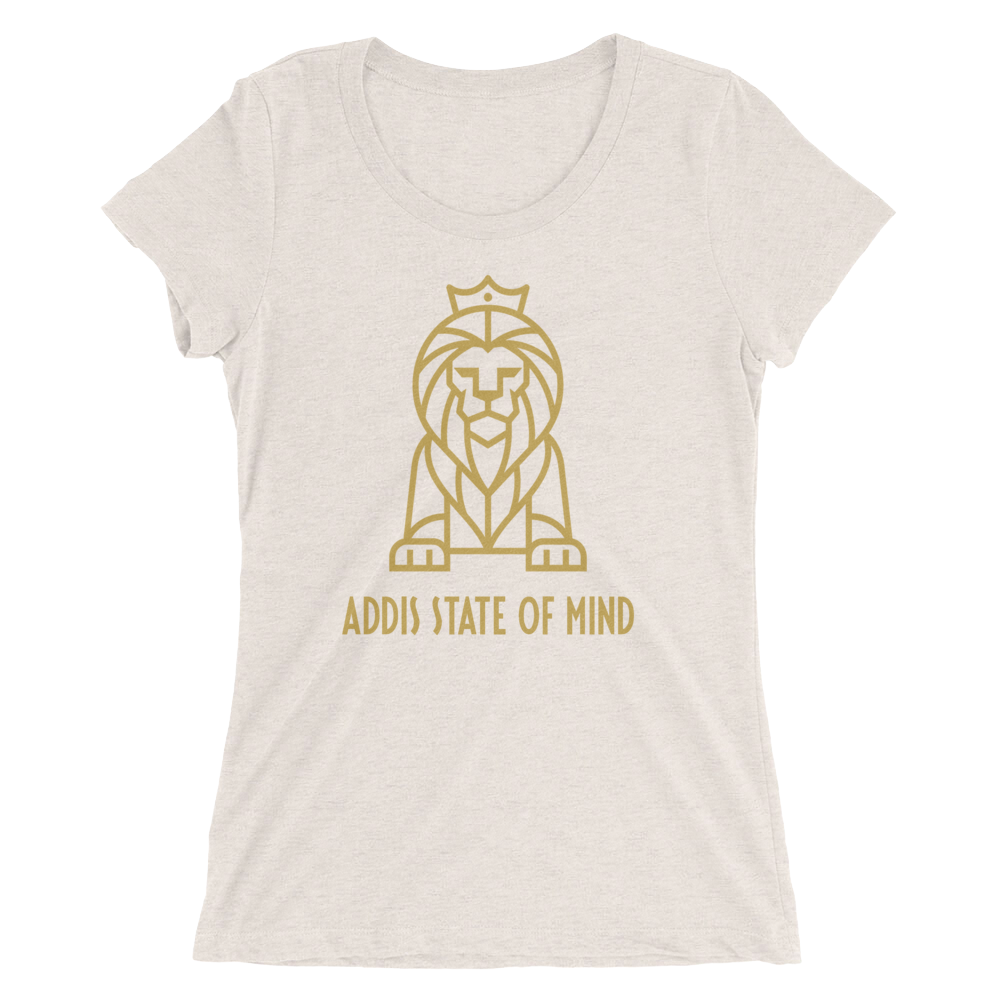 "New ""Addis"" Lion Ladies' Short Sleeve T-Shirt"