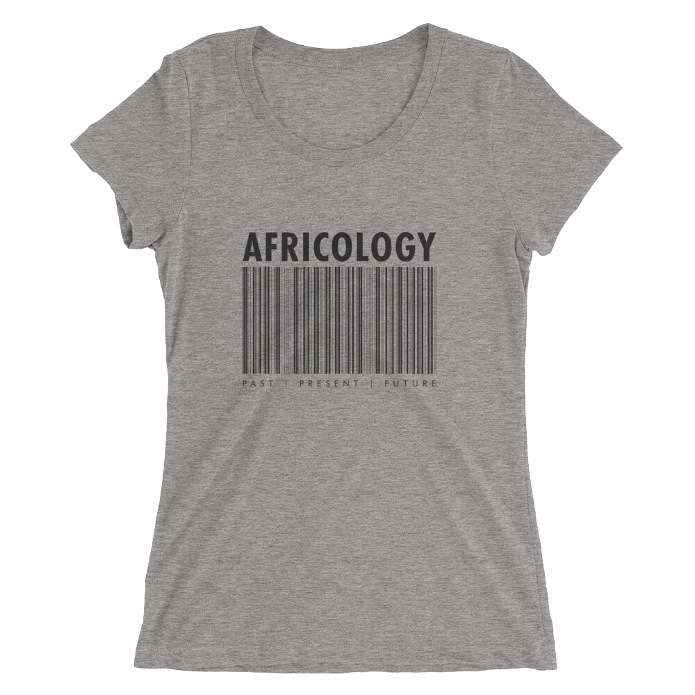 Africology Bar Code Ladies' Short Sleeve T-Shirt