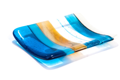 Beach Baby Fused Glass Soap Dish