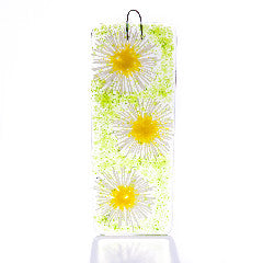 Daisy Chain Light Catcher Fused Glass Large