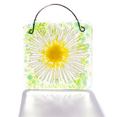 Daisy Chain Light Catcher Fused Glass Square