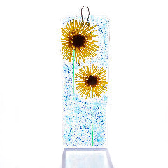Sunflower Fused Glass Light Catcher Large