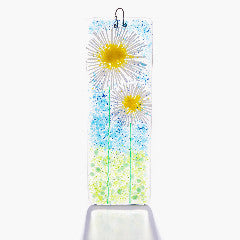 Daisy Blue Skies Fused Glass Light Catcher Large