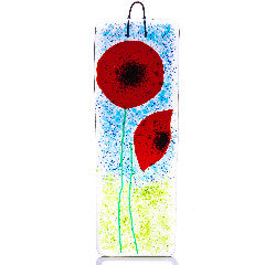 Poppy Fields Fused Glass Large Lightcatcher