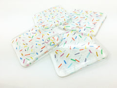 Cupcake Sprinkles Fused Glass Rainbow Coaster