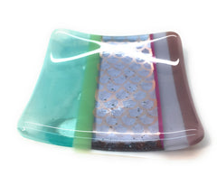 Mermaid fused glass trinket dish bowl