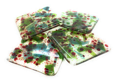 Holly Berry Christmas Coasters - Set of Four