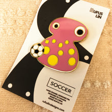 Load image into Gallery viewer, BLOBBY™ (Soccer) Hard Enamel Pin, designed by Rufus Lin