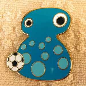 BLOBBY™ (Soccer) Hard Enamel Pin, designed by Rufus Lin