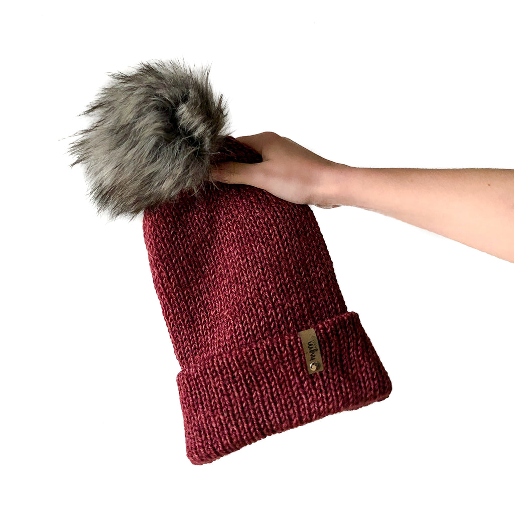 Double Knit Pom Beanie - Badlands