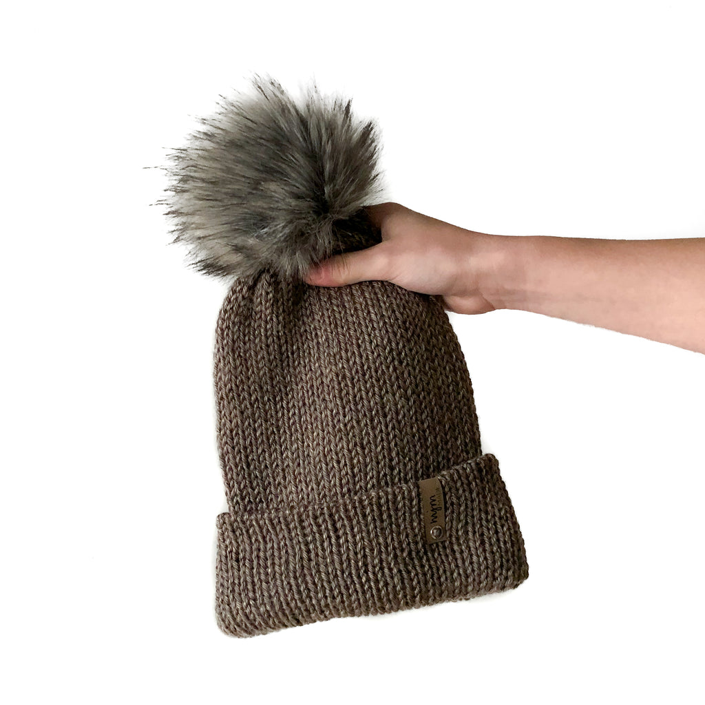 Double Knit Pom Beanie - Mammoth Cave
