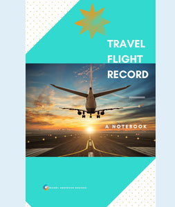 Travel Flight Record Notebook
