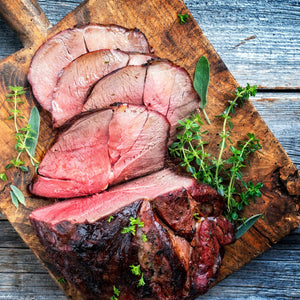 Wild venison haunch roast (boned)