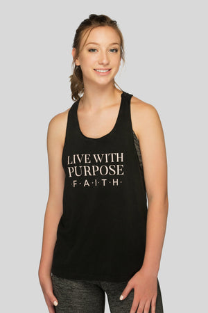 Live With Purpose Christian Workout Tank
