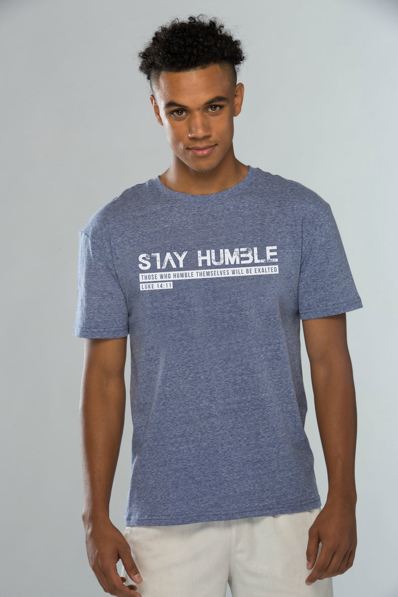 Stay Humble Blue Tee Shirt