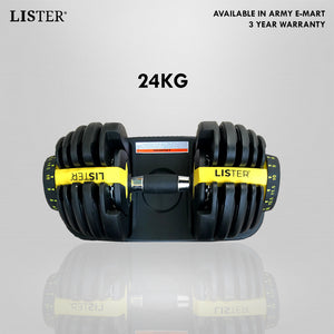 LISTER® Adjustable Eli-Flex Dumbbell 24/40KG Inspected in Singapore