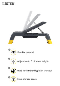 LISTER® Versatile Gym Bench With Pressure Relief Point Inspected in Singapore